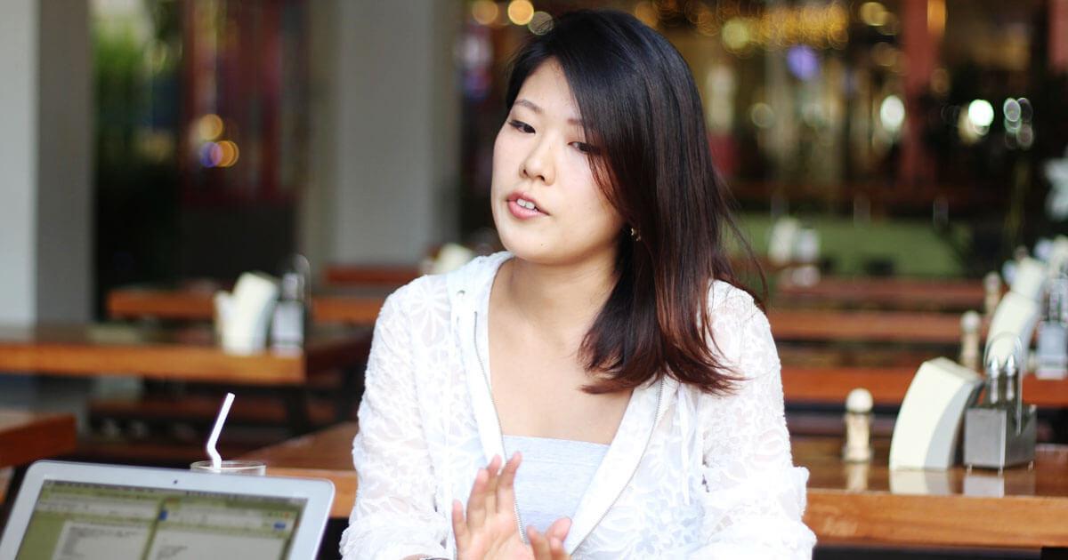 留学体験談|鈴木あかねさんインタビューの様子2|フィリピン留学・セブ留学でビジネス英語を学ぶなら語学学校ブライチャー
